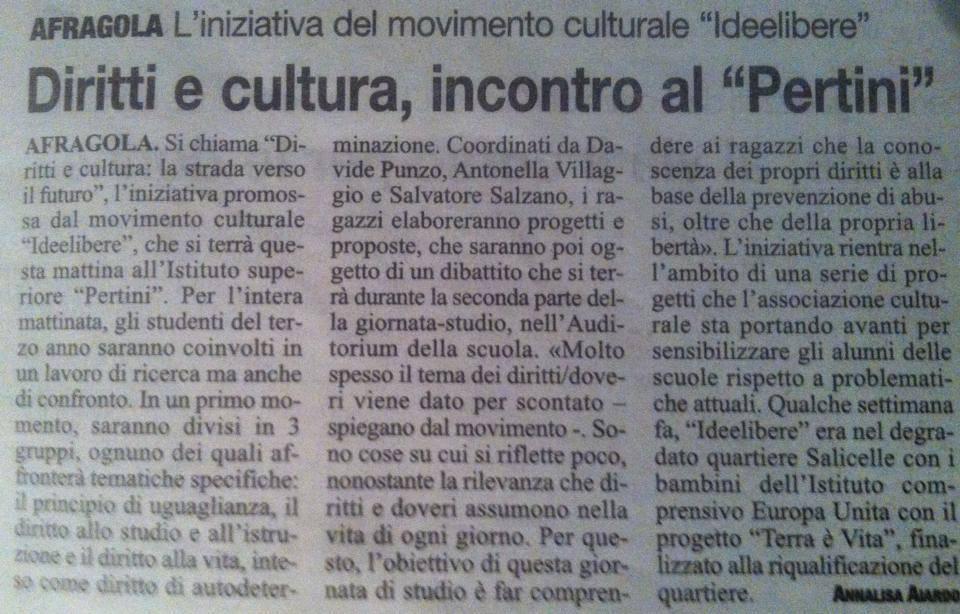 """Articolo il """"ROMA"""" 16/11/2013"""