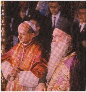 Incontro del 1964 tra Papa Paolo VI ed il Patriarca di Costantinopoli Atenagora