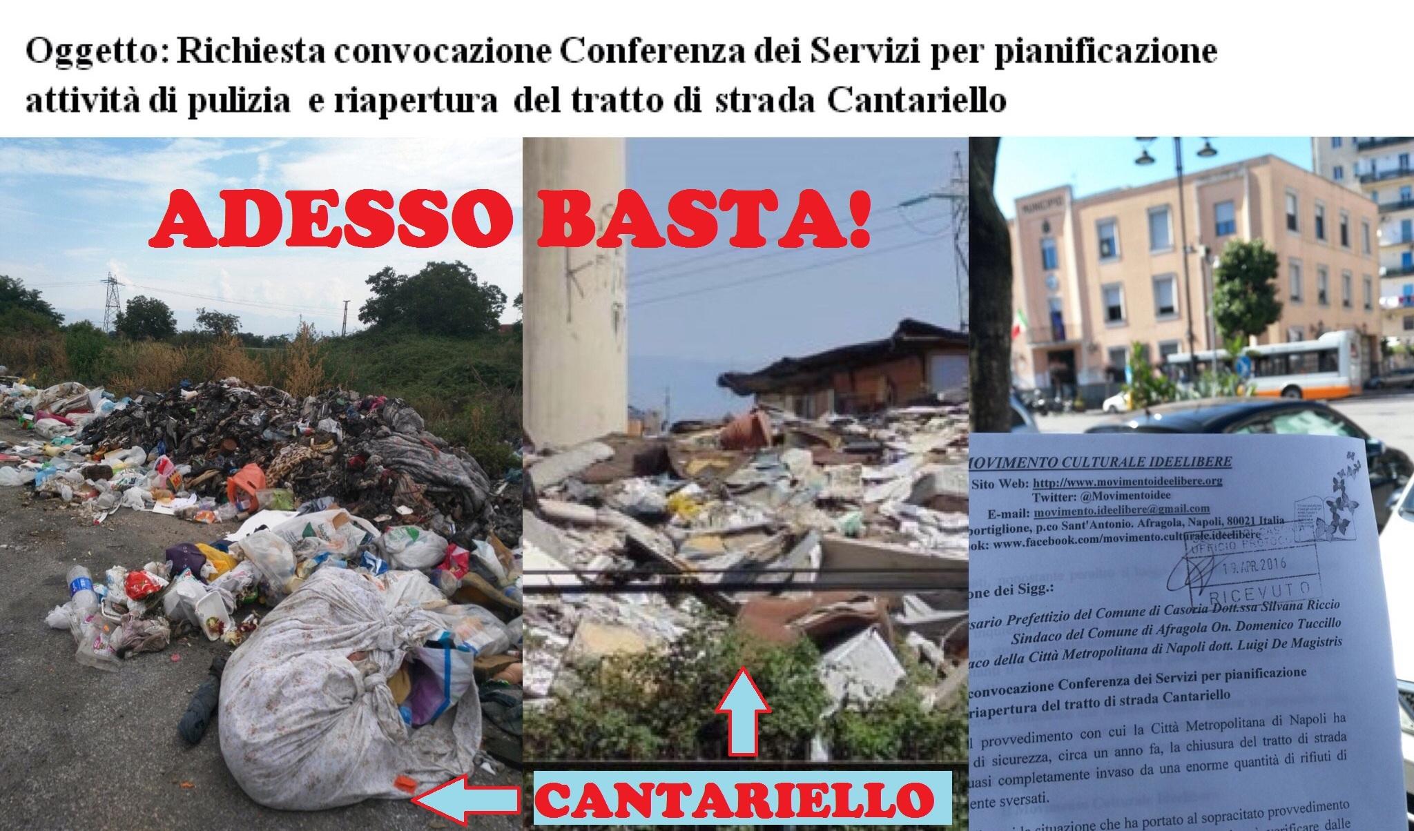 EMERGENZA AMBIENTALE al Cantariello: adesso basta!