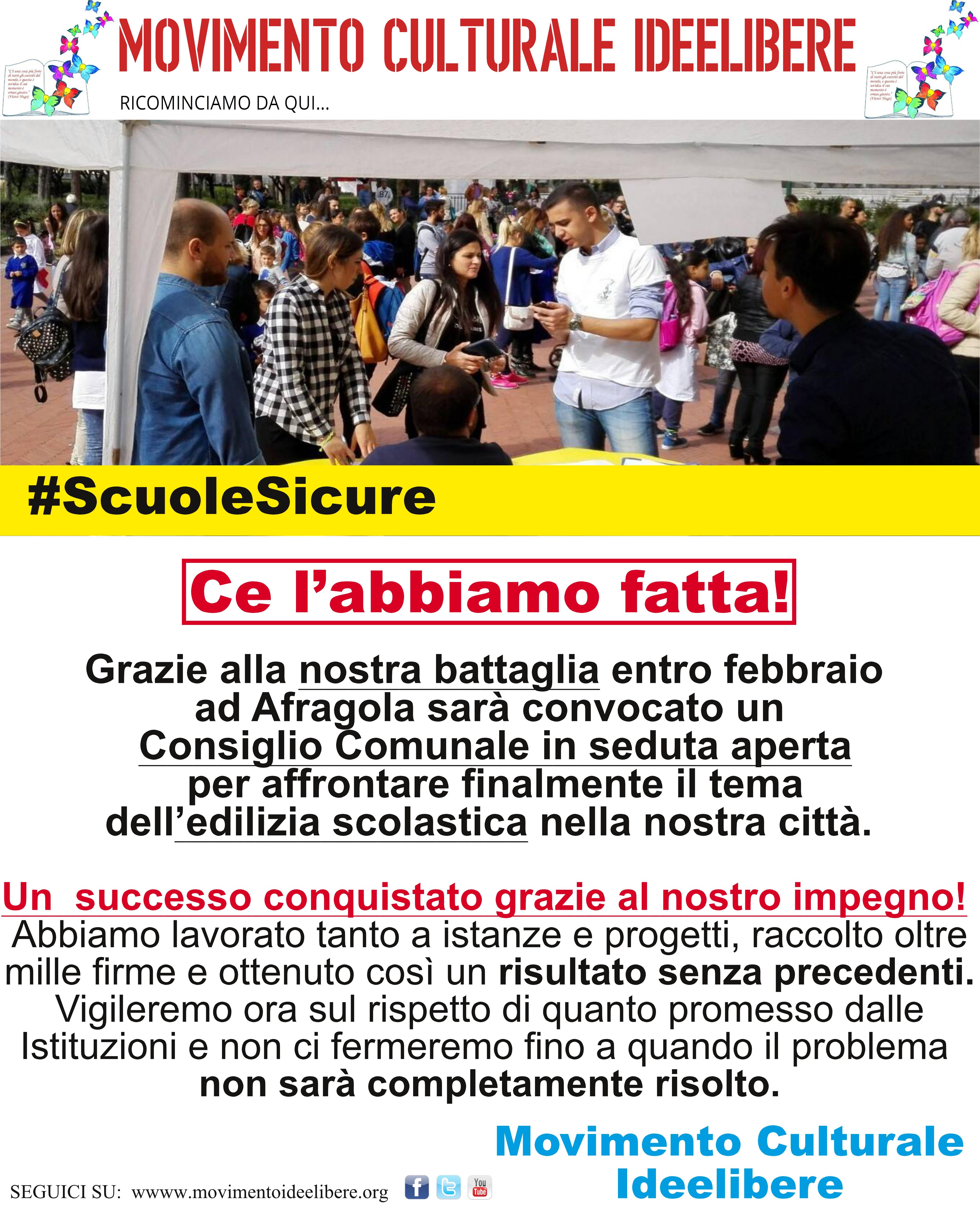 #ScuoleSicure: UN'ALTRA NOSTRA GRANDE VITTORIA!